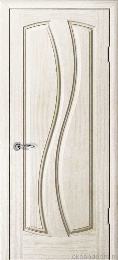 Двери Океан Шарм (Ясень белый жемчуг), глухая