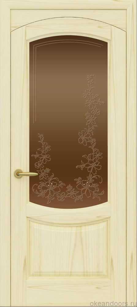 Двери Океан Лувр (ясень слоновая кость), стекло бронзовое