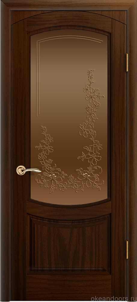 Двери Океан Лувр (ясень винтаж), стекло бронзовое