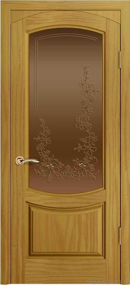 Двери Океан Лувр (ясень шервуд), стекло бронзовое
