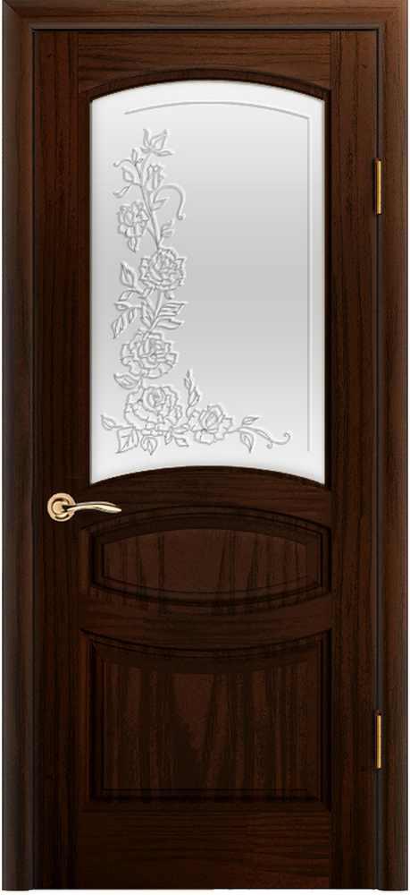 Двери Океан Изабелла (ясень винтаж), стекло белое решетка