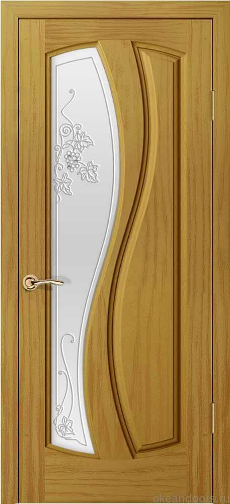 Двери Океан Шарм (ясень шервуд), стекло белое