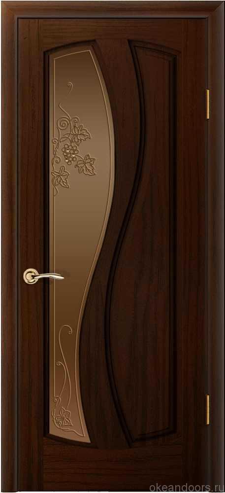 Двери Океан Шарм (ясень винтаж), стекло бронзовое