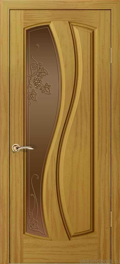 Двери Океан Шарм (ясень шервуд), стекло бронзовое