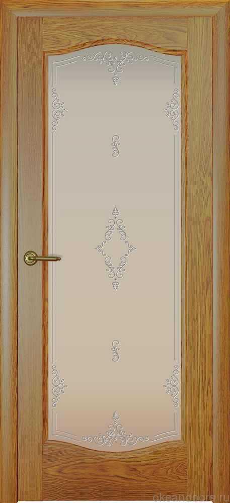 Двери Океан Аврора (дуб золотой), стекло белое