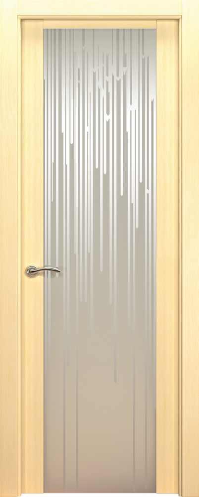 Двери Океан de Vesta Flex (беленый дуб), стекло белое