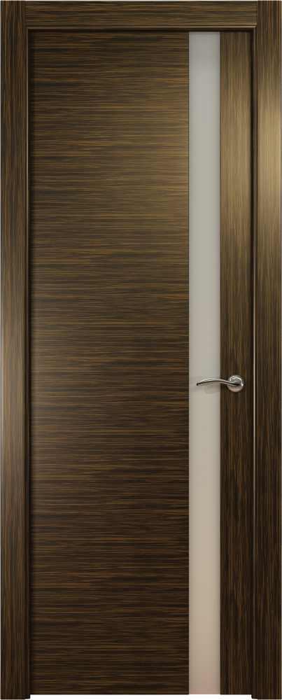 Двери Океан de Vesta L (светлый эбен), стекло белое