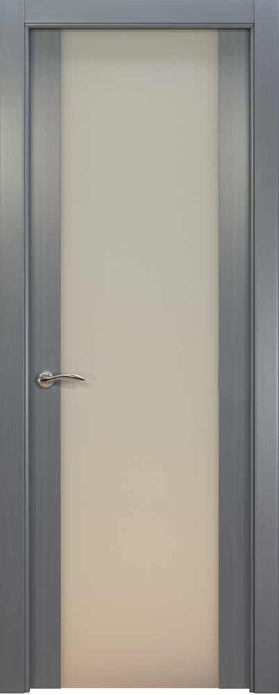 Двери Океан de Vesta P (серебристый дуб), стекло белое
