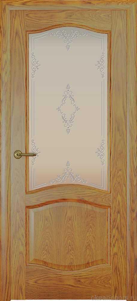 Двери Океан София (дуб золотой), стекло белое