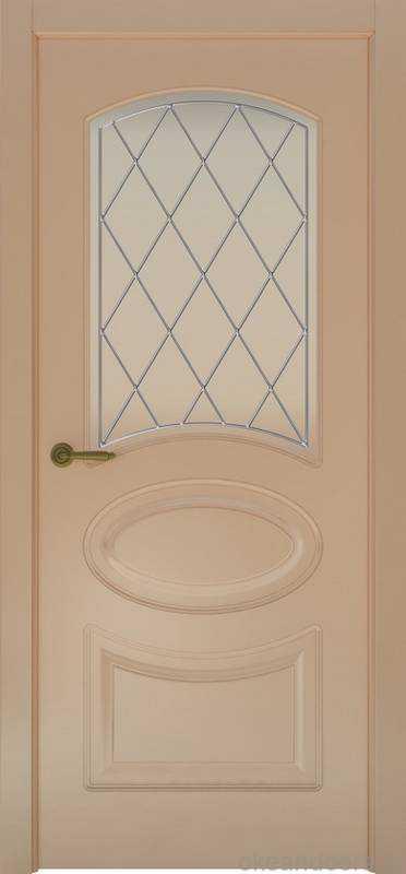 Дверь Provence 1 (капучино, стекло белое Ромб)