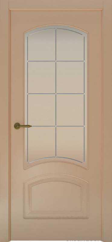 Дверь Provence 4 (капучино, стекло белое Решетка)
