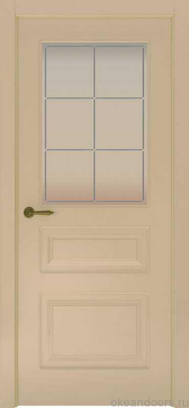 Дверь Provence 3 (слоновая кость, стекло белое Решетка)