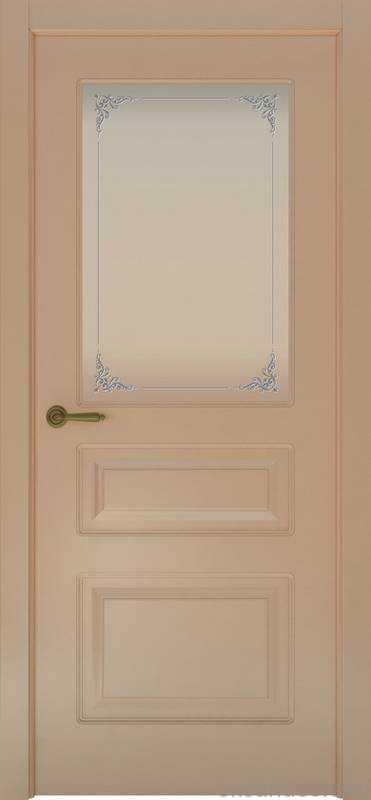 Дверь Provence 3 (капучино, стекло белое Виола)
