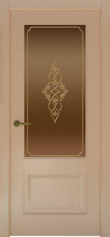 Дверь Provence 2 (капучино, стекло бронзовое Арабеска)