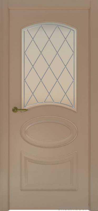Дверь Provence 1 (мокко, стекло белое Ромб)