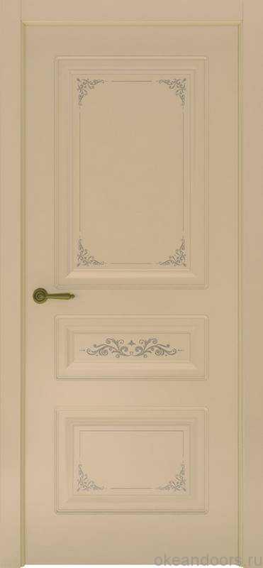 Дверь Океан Provence 3 Flora (слоновая кость, глухая)