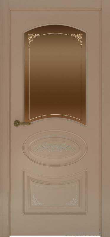 Дверь Provence 1 Flora (мокко, стекло бронзовое)