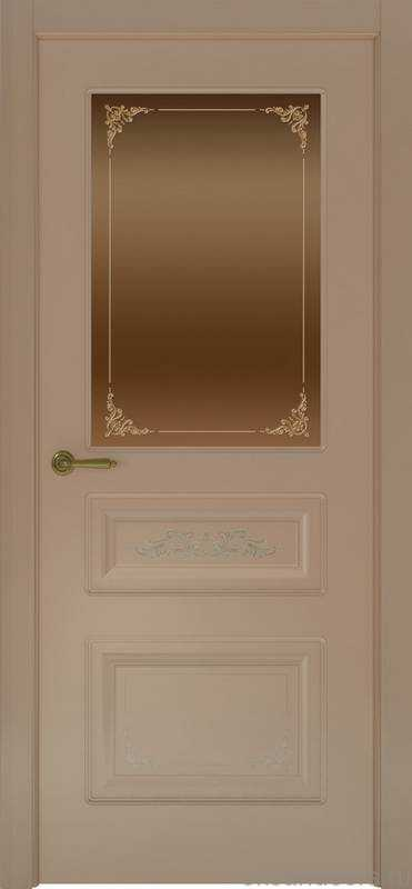 Дверь Океан Provence 3 Flora (мокко, бронзовое стекло)