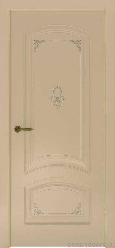 Дверь Океан Provence 4 Flora (слоновая кость, глухая)
