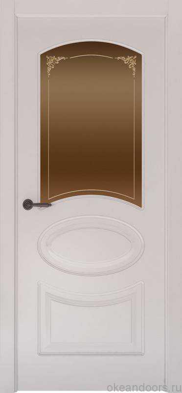 Дверь Provence 1 (белая эмаль, стекло бронзовое Виола)
