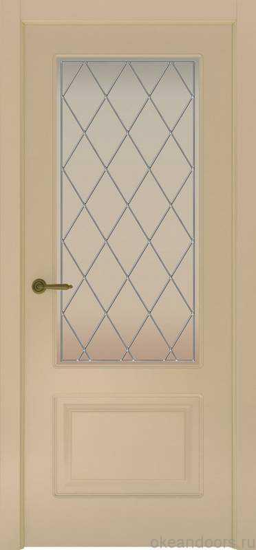Дверь Provence 2 (слоновая кость, стекло белое Ромб)