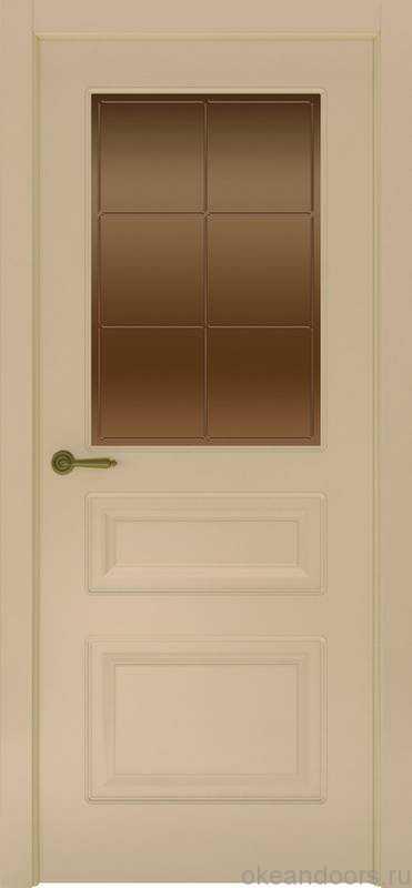 Дверь Provence 3 (слоновая кость, стекло бронзовое Решетка)
