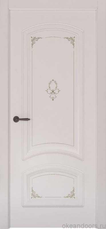 Дверь Океан Provence 4 Flora (белая эмаль, глухая)