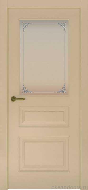 Дверь Provence 3 (слоновая кость, стекло белое Виола)