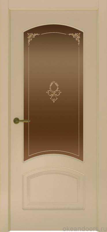 Дверь Provence 4 (слоновая кость, стекло бронзовое Виола)