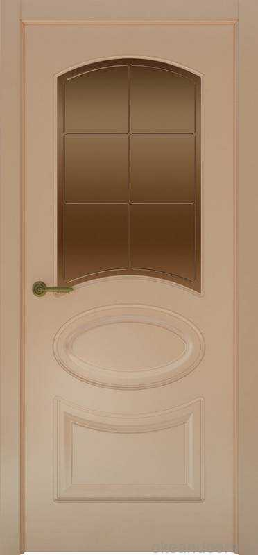Дверь Provence 1 (капучино, стекло бронзовое Решетка)
