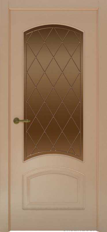 Дверь Provence 4 (капучино, стекло бронзовое Ромб)