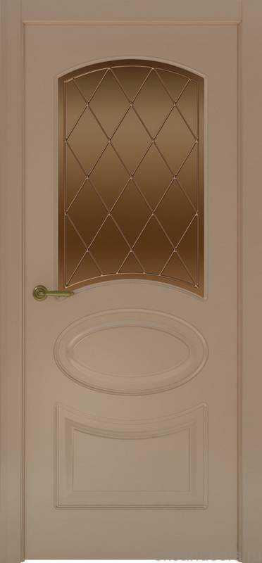 Дверь Provence 1 (мокко, стекло бронзовое Ромб)