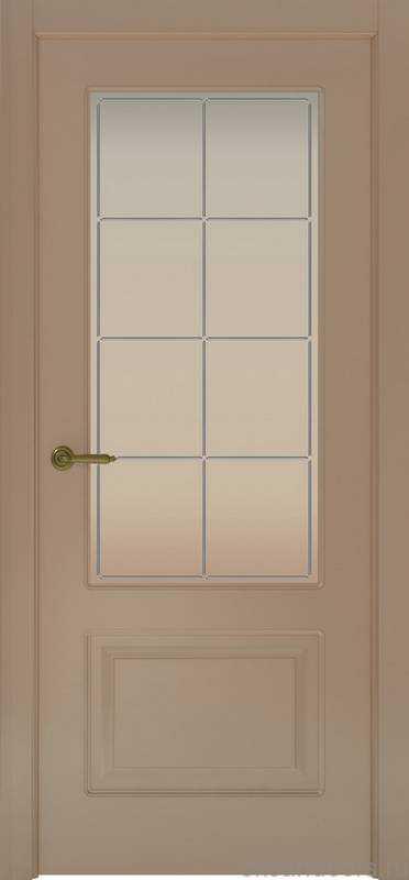 Дверь Provence 2 (мокко, стекло белое Решетка)