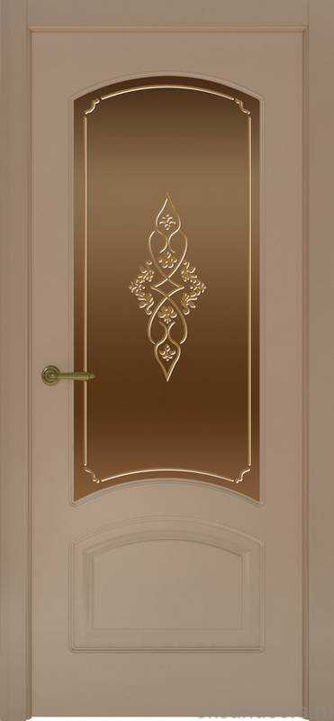 Дверь Provence 4 (мокко, стекло бронзовое Арабеска)
