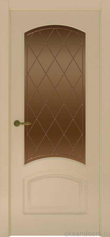 Дверь Provence 4 (слоновая кость, стекло бронзовое Ромб)