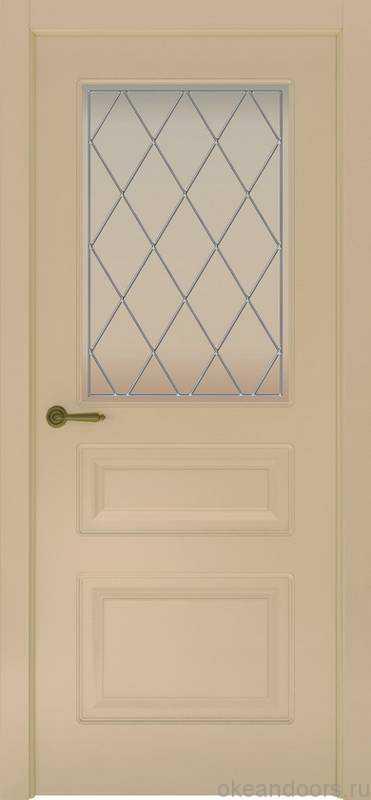 Дверь Provence 3 (слоновая кость, стекло белое Ромб)