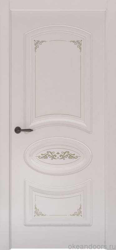 Дверь Океан Provence 1 Flora (белая эмаль, глухая)