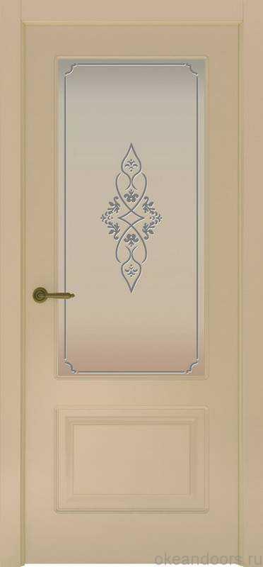Дверь Provence 2 (слоновая кость, стекло белое Арабеска)