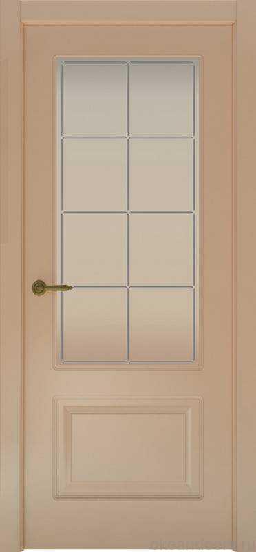 Дверь Provence 2 (капучино, стекло белое Решетка)