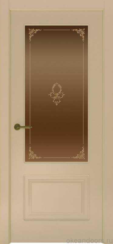 Дверь Provence 2 (слоновая кость, стекло бронзовое Виола)