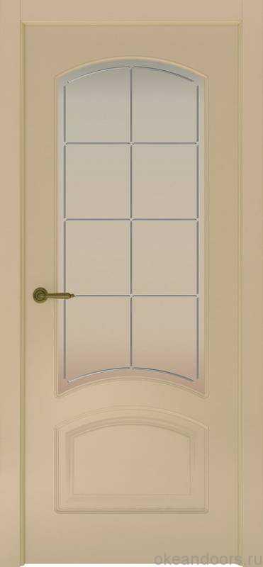 Дверь Provence 4 (слоновая кость, стекло белое Решетка)