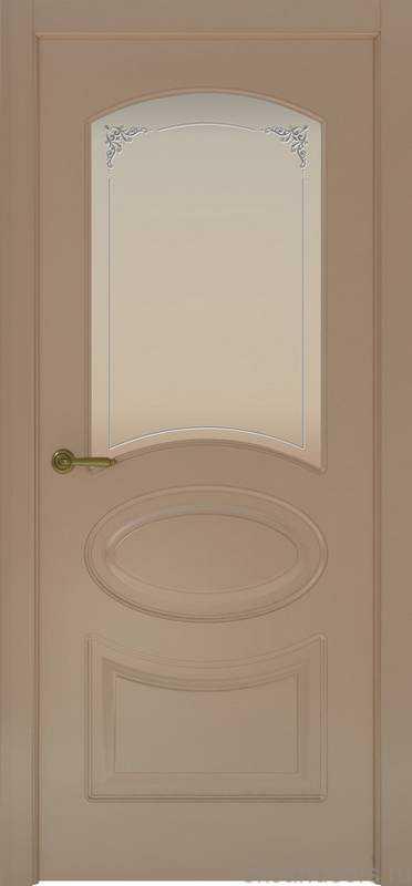 Дверь Provence 1 (мокко, стекло белое Виола)
