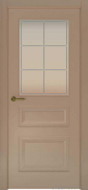 Дверь Provence 3 (мокко, стекло белое Решетка)