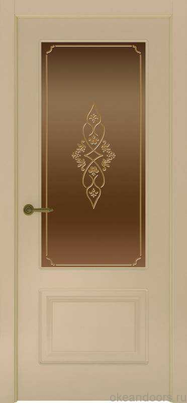 Дверь Provence 1 (слоновая кость, стекло бронзовое Арабеска)