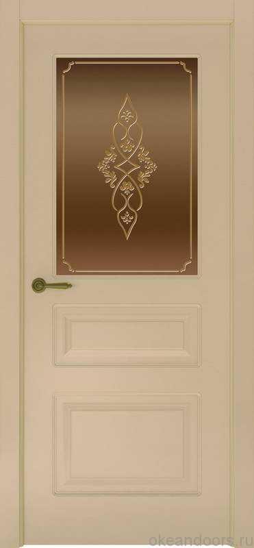 Дверь Provence 3 (слоновая кость, стекло бронзовое Арабеска)