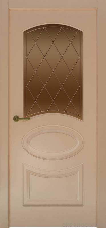 Дверь Provence 1 (капучино, стекло бронзовое Ромб)