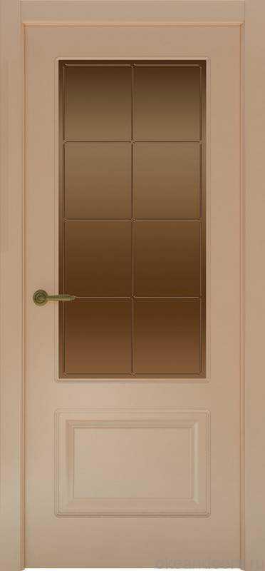 Дверь Provence 2 (капучино, стекло бронзовое Решетка)