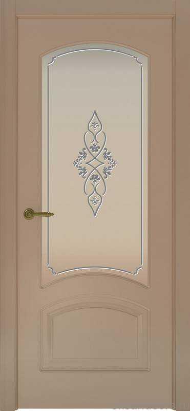 Дверь Provence 4 (мокко, стекло белое Арабеска)