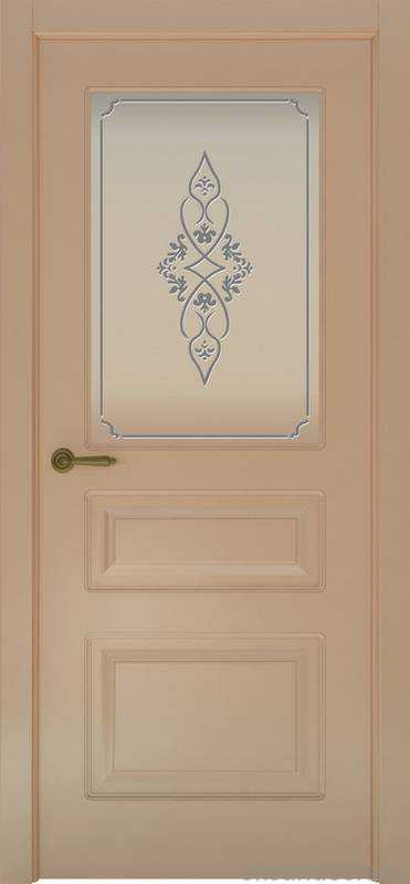 Дверь Provence 3 (капучино, стекло белое Арабеска)