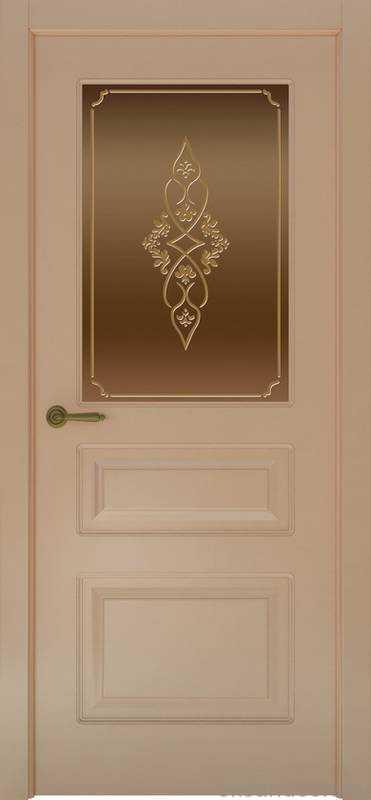Дверь Provence 3 (капучино, стекло бронзовое Арабеска)